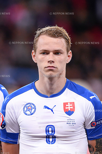 Ondrej Duda (Slovakia) ; <br /> June 15, 2016 - Football : Uefa Euro France 2016, Group B, Russia 1-2 Slovakia at Stade Pierre Mauroy, Lille Metropole, France. (Photo by aicfoto/AFLO)