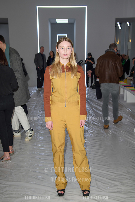 Nell Hudson at the Jasper Conran show as part of London Fashion Week, London, UK. <br /> 17 February  2018<br /> Picture: Steve Vas/Featureflash/SilverHub 0208 004 5359 sales@silverhubmedia.com