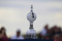 The Trophy on the 18th during Round 4 of the Irish Open at LaHinch Golf Club, LaHinch, Co. Clare on Sunday 7th July 2019.<br /> Picture:  Thos Caffrey / Golffile<br /> <br /> All photos usage must carry mandatory copyright credit (© Golffile | Thos Caffrey)