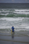 Surf fishing along the Oregon Coast.