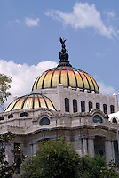 Dome of the Palacio de Bellas Artes or Fine Arts Palace in Mexico City