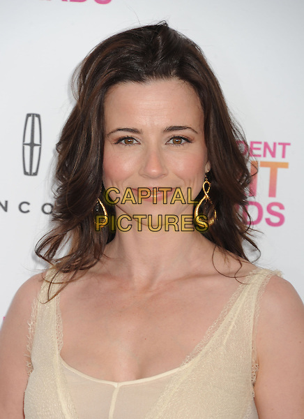 Linda Cardellini.2013 Film Independent Spirit Awards - Arrivals Held At Santa Monica Beach, Santa Monica, California, USA,.23rd February 2013..indy indie indies indys indy indie indies indys portrait headshot gold earrings  white beige gold sheer .CAP/ROT/TM.©Tony Michaels/Roth Stock/Capital Pictures