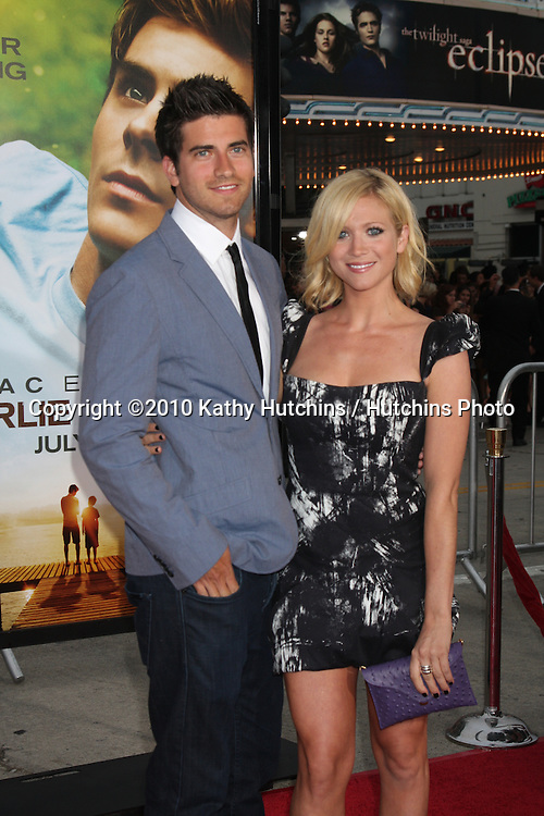 "LOS ANGELES - JUL 20:  Brittany Snow & Boyfriend arrive at the ""Charlie St. Cloud"" Premiere at Village Theater on July20, 2010 in Westwood, CA ...."