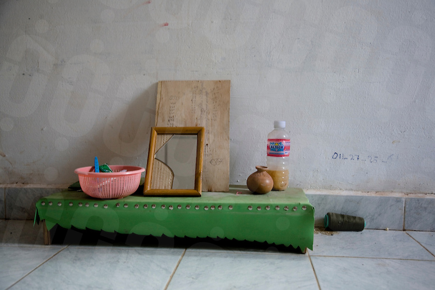 June 24, 2008 - Phnom Penh, Cambodia. Room where garment workers live. © Nicolas Axelrod / Ruom