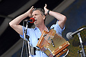 Louisiana's own Zachary Richard performs at the New Orleans Jazz and Heritage Festival on opening day, Friday, New Orleans, April 27, 2007..(AP Photo/Cheryl Gerber)Zydeco