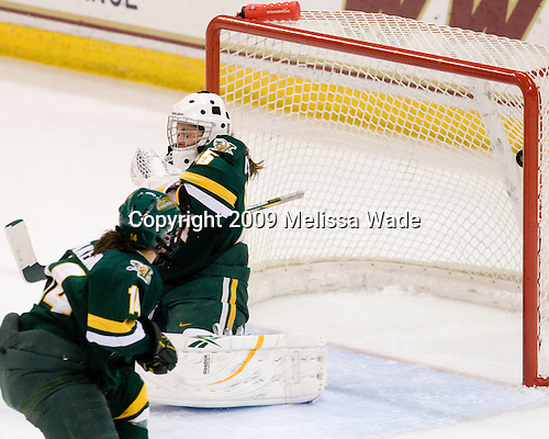 Peggy Wakeham (Vermont - 14), Kristen Olychuck (Vermont - 35) - The University of Vermont Catamounts defeated the Boston College Eagles 5-1 on Saturday, November 7, 2009, at Conte Forum in Chestnut Hill, Massachusetts.