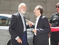 Iincontro tra Scalfari e Benigni al Teatro San Carlo  <br /> nella foto Roberto Benigni ed Eugenio Scalfari