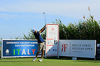 Edoardo Molinari (ITA) during previews ahead of the Rocco Forte Sicilian Open played at Verdura Resort, Agrigento, Sicily, Italy 08/05/2018.<br /> Picture: Golffile | Phil Inglis<br /> <br /> <br /> All photo usage must carry mandatory copyright credit (&copy; Golffile | Phil Inglis)