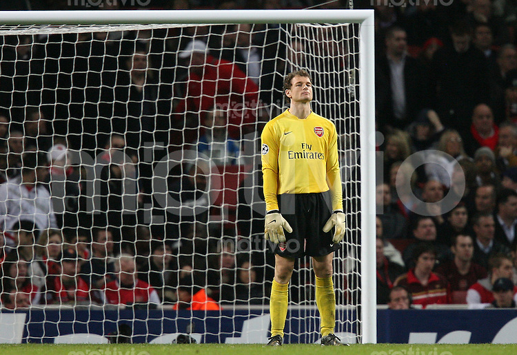 Fussball  Champions League  Saison 2006/2007   FC Arsenal London 1 -1 PSV Eindhoven Enttaeuschung Arsenal; Torwart Jens Lehmann