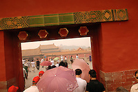 Nowhere is the energy and optimism of the Chinese people more visible than within the formally cloistered imperial palace of the Forbidden City. Once off limits to the masses, Chinese families join tourists from around the world joyfully snapping souvenir photographs in front of the sweeping cluster of intricately adorned buildings..