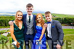 Ava Kelliher, Sean Quilter, Leona O'Shea and Jack Enright  attending the Presentation Tralee Debs in the Ballyroe Hotel on Tuesday.