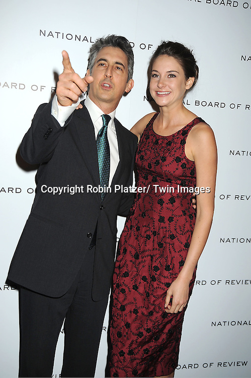 """Alexander Payne and actress Shailene Woodley of """" The Descendants"""" attends The National Board of Review Film Awards Gala on January 10, 2012 at Cipriani 42nd Street in New York City."""