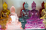 Glass Buddha figures Gangaramaya Buddhist Temple, Colombo, Sri Lanka, Asia