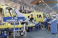 - Agusta helicopters factory, plant of Vergiate....- fabbrica di elicotteri Agusta, stabilimento di Vergiate