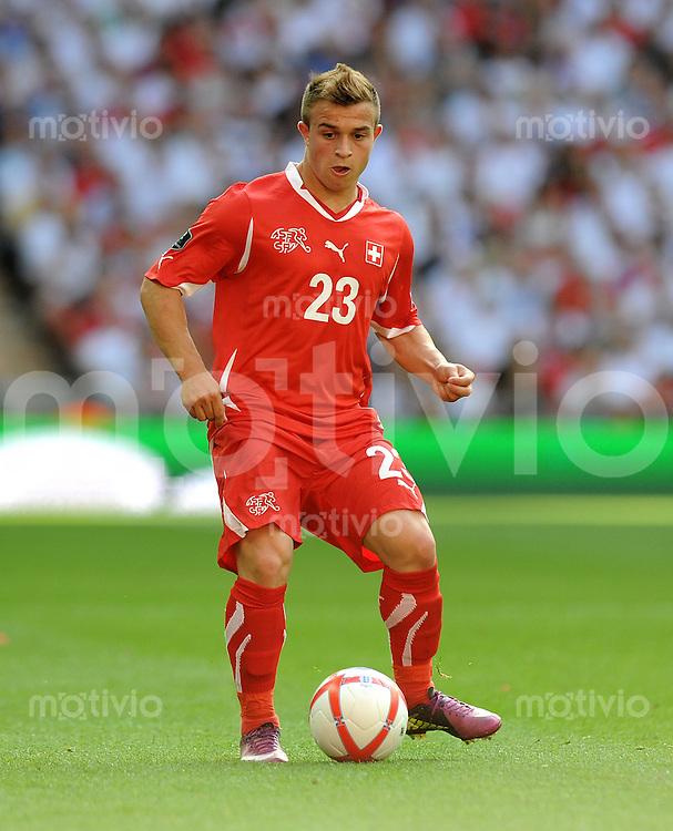 FUSSBALL INTERNATIONAL  EM 2012-Qualifikation  Gruppe A  04.06.2011 England - Schweiz  Xherdan SHAQIRI (Schweiz)