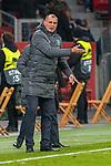 29.11.2018, BayArena, Leverkusen, Europaleque, Vorrunde, GER, UEFA EL, Bayer 04 Leverkusen (GER) vs. Ludogorez Rasgrad (BUL),<br />  <br /> DFL regulations prohibit any use of photographs as image sequences and/or quasi-video<br /> <br /> im Bild / picture shows: <br /> Trainer / Headcoach Paulo Autuori (Rasgrad), regt sich heftig auf, Gestik, Mimik,   <br /> <br /> Foto &copy; nordphoto / Meuter<br /> <br /> <br /> <br /> Foto &copy; nordphoto / Meuter