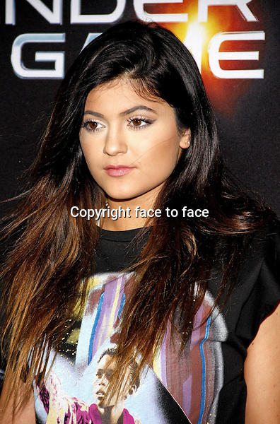 Kylie Jenner at the Los Angeles Premiere of &quot;Ender's Game&quot; held at the TCL Chinese Theater in Hollywood on October 28, 2013 in Los Angeles, California.<br /> Credit: PopularImages/face to face