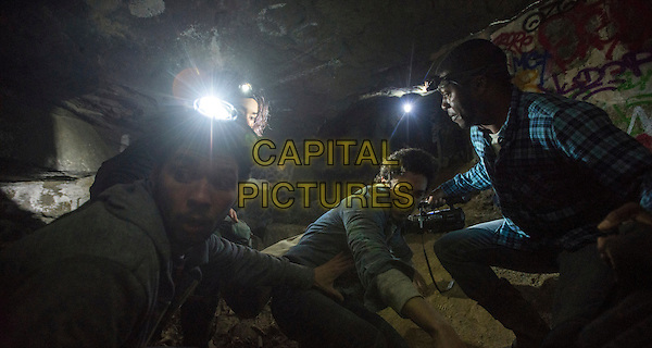 Ali Marhyar, Marion Lambert, Ben Feldman, Edwin Hodge<br /> in As Above, So Below (2014)  <br /> *Filmstill - Editorial Use Only*<br /> CAP/FB<br /> Image supplied by Capital Pictures
