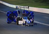 Jun. 19, 2011; Bristol, TN, USA: NHRA top fuel dragster driver Antron Brown during eliminations at the Thunder Valley Nationals at Bristol Dragway. Mandatory Credit: Mark J. Rebilas-