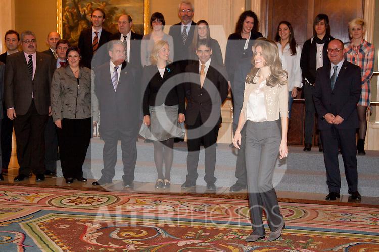 310111.MC.Psa de Asturias audiencia selección nacional femenina de hockey sobre patines.310111.Pal Zarzuela. madrid. ..