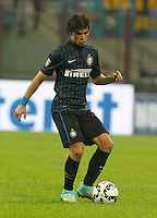 Dodo during the Italian serie A   soccer match between SSC Napoli and Inter    at  the San Siro    stadium in Milan  Italy , Octoberr 19 , 2014