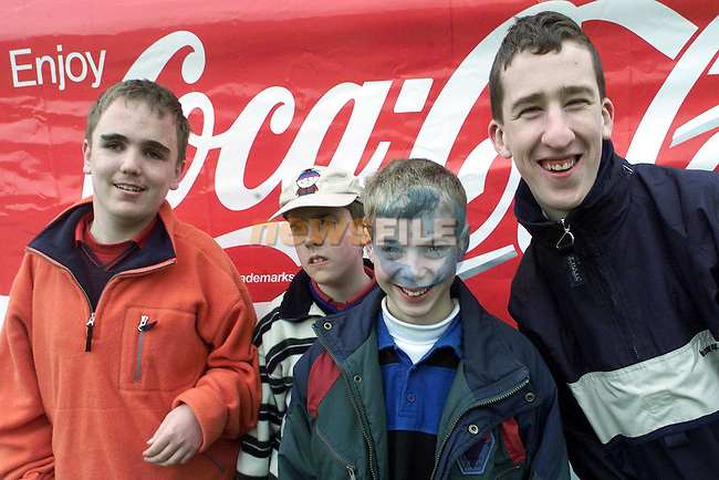 Stephen Rooney, Cherrymount, Andrew McCluskey, Pearse Park, Edward Kennedy, Julianstown and Gavin Murphy, Maple Drive pupils from St. Ita's, Crushrod Avenue at Sonairte..Picture Paul Mohan Newsfile