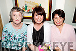 Margaret O'Connell, Marion O'Sullivan, Rose Brosnan, pictured at  Shaws Department Store, Tralee, 20th anniversary celebrations, at the Brogue Inn, Tralee on Saturday night last.