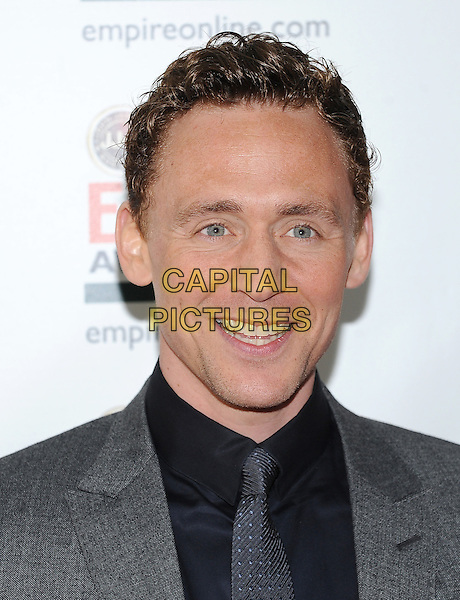 Tom Hiddleston .Jameson Empire Film Awards at the Grosvenor House Hotel, Park Lane, London, England..March 25th 2012.headshot portrait black grey gray.CAP/BF.©Bob Fidgeon/Capital Pictures.