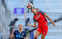 Orlando, FL - Saturday October 14, 2017: Tobin Heath, Kristen Hamilton during the NWSL Championship match between the North Carolina Courage and the Portland Thorns FC at Orlando City Stadium.