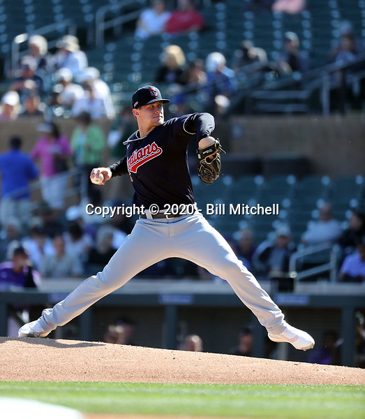 Zach Plesac - Cleveland Indians 2020 spring training (Bill Mitchell)