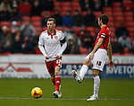 Martyn Woolford of Sheffield Utd chases after a back pass by Sam Ricketts of Coventry City - English League One - Sheffield Utd vs Coventry City - Bramall Lane Stadium - Sheffield - England - 13th December 2015 - Pic Simon Bellis/Sportimage-