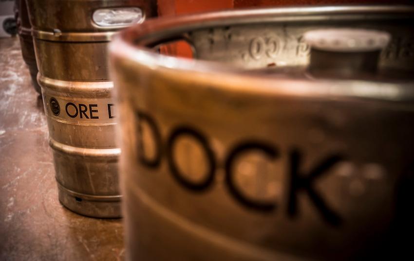 Kegs Ore Dock Brewing Company, Marquette, Michigan.