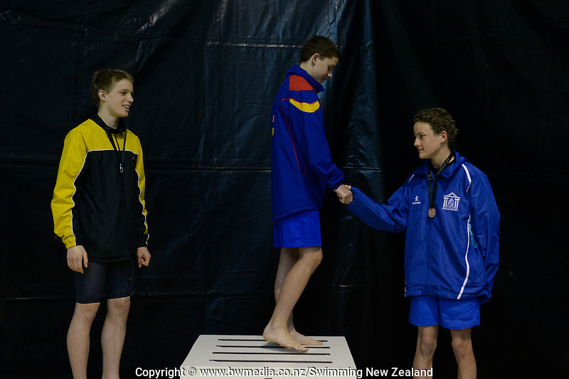 Action during Session Three of the 2016 New Zealand Secondary Schools Championships, Wellington Regional Aquatic Centre, Wellington, New Zealand, Saturday 10 September 2016. Photo: Marco Keller / www.bwmedia.co.nz