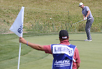 Bernd Wiesberger (AUT) has to chip from the green to the 16th, but duffs it into the rough during Round Three of the 2015 Alstom Open de France, played at Le Golf National, Saint-Quentin-En-Yvelines, Paris, France. /04/07/2015/. Picture: Golffile | David Lloyd<br /> <br /> All photos usage must carry mandatory copyright credit (© Golffile | David Lloyd)