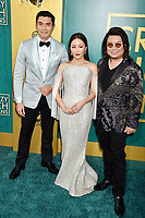 HOLLYWOOD, CA - AUGUST 07: (L-R) Henry Golding, Constance Wu and Kevin Kwan arrive at the Warner Bros. Pictures' 'Crazy Rich Asians' premiere at the TCL Chinese Theatre IMAX on August 7, 2018 in Hollywood, California.<br /> CAP/ROT/TM<br /> &copy;TM/ROT/Capital Pictures