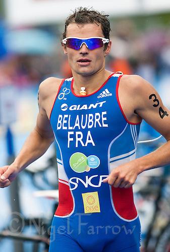 11 JUL 2009 - KITZBUHEL, AUT - Frederic Belaubre - ITU World Championship Series Mens Triathlon (PHOTO (C) NIGEL FARROW)