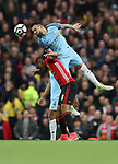 Nicolas Otamendi of Manchester City and Anthony Martial of Manchester United during the English Premier League match at The Etihad Stadium, Manchester. Picture date: April 27th, 2016. Photo credit should read: Lynne Cameron/Sportimage