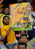 Club America fan during the game, DC United defeated Club America 1-0 to secure one of the two semifinal berths in SuperLiga group B, at RFK Stadium in Washington DC, Sunday July 29, 2007.