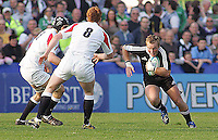 New Zealand flanker Luke Braid on the attack during the Division A U19 World Chanpionship match at Ravenhill, Belfast.