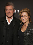 "Bill Sage and Edie Falco Attends the Broadway Opening Night Arrivals for ""Burn This"" at the Hudson Theatre on April 15, 2019 in New York City."