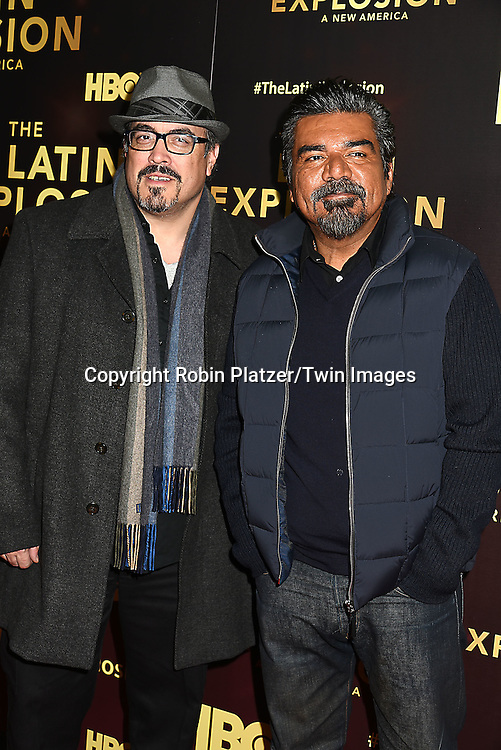 David Zayas and George Lopez attends the HBO premiere of &quot;The Latin Explosion: A New America&quot; on November 10, 2015 at the Hudson Theater in New York City, New York, USA.<br /> <br /> photo by Robin Platzer/Twin Images<br />  <br /> phone number 212-935-0770