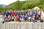 Junior Cert students from St Brendan's College who went hiking up the Gap of Dunloe on Wednesday
