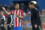 Atletico de Madrid's coach Diego Pablo Cholo Simeone (r) with Koke Resurrecccion during Champions League 2016/2017 Quarter-finals 1st leg match. April 12,2017. (ALTERPHOTOS/Acero)