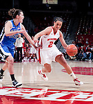 Duke Blue Devils forward Haley Peters (33) defends against Wisconsin Badgers guard Taylor Wurtz (2) during an NCAA college women's basketball game during the ACC/Big Ten Challenge at the Kohl Center in Madison, Wisconsin on December 2, 2010. Duke won 59-51. (Photo by David Stluka)