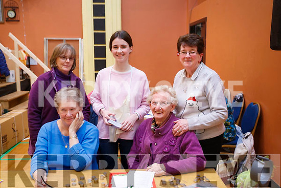 Pictured at St. John's Parish Bazaar, held at the KDYS, Tralee on Saturday night last were front l-r: Sherby Sheehan O'Brien and Mary O'Brien. Back l-r: Celine O'Callaghan, Iona O'Neill and Rosie O'Sullivan.