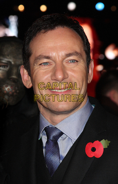 "JASON ISAACS .""Harry Potter And The Deathly Hallows: Part 1"" World Film Premiere, Empire cinema Leicester Square and Odeon Leicester Square, London, England, UK, 11th November 2010. .portrait headshot smiling black suit blue tie poppy .CAP/ROS.©Steve Ross/Capital Pictures."