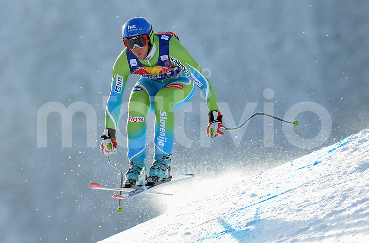 Ski Alpin;  Saison 2007/2008  22.01.2009 69. Hahnenkamm Rennen,  Abfahrt   2. Training   Andrej Jerman (SOL)