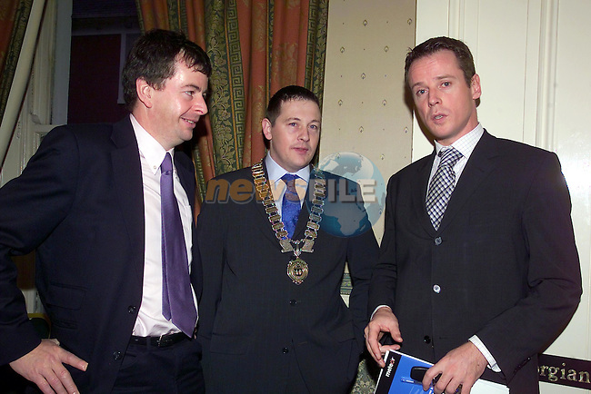 Paddy Callaghan Natures Best, Chamber of Commerce President Mark Markey and Gabriel O'Brien OBC Estate Agents at the Drogheda Chamber of Commerce Budget Breakfast...Picture Fran Caffrey Newsfile...This Picture is sent to you by:..Newsfile Ltd.The View, Millmount Abbey, Drogheda, Co Louth, Ireland..Tel: +353419871240.Fax: +353419871260.GSM: +353862500958.ISDN: +353419871010.email: pictures@newsfile.ie.www.newsfile.ie