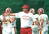 Washington Redskins head coach Norv Turner directs practice as his team goes through its various drills during their preseason training camp at Redskins Park in Ashburn, Virginia on August 1, 2000. <br /> Credit: Arnie Sachs / CNP