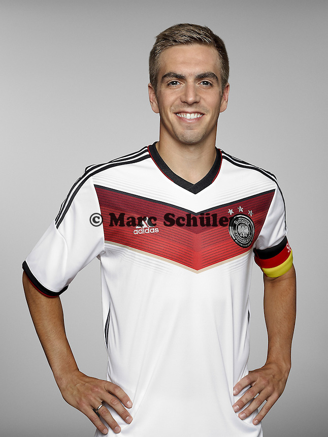 ST. MARTIN IN PASSEIER, ITALY - MAY 24: In this handout image provided by German Football Association (DFB) Philipp Lahm of team Germany poses for a picture on May 24, 2014 in St. Martin in Passeier, Italy. (Photo by Handout/DFB via Bongarts/Getty Images)  *** Local Caption *** Philipp Lahm